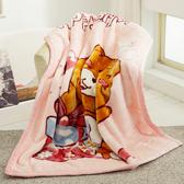 HO KANG 新合纖技術單人雙層柔軟毛毯-禮物熊