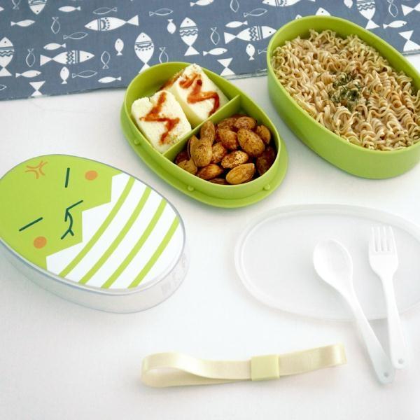 2個 卡通日式便當盒兒童水果盒點心盒可微波可愛午餐盒配叉勺