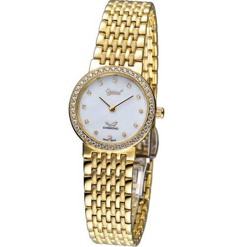 Ogival 愛其華薄型奢華仕女腕錶 385022DL