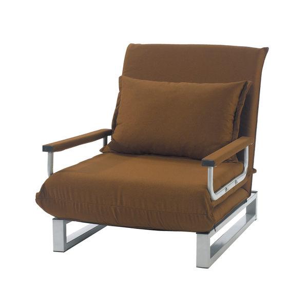 【采桔家居】蘿斯芙 時尚棉麻布單人沙發/沙發床(拉合式變化設計)