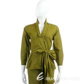 KENZO綠色腰間綁帶設計襯衫 0910240-08