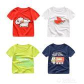 兒童t恤女童打底衫純棉半袖中大童裝嬰兒寶寶男童夏裝上衣T恤短袖 沸點奇跡