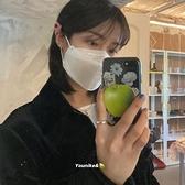 韓國ins青蘋果花朵支架蘋果手機殼 iphone12/11Promax/Xr/78Plus/Xsmax