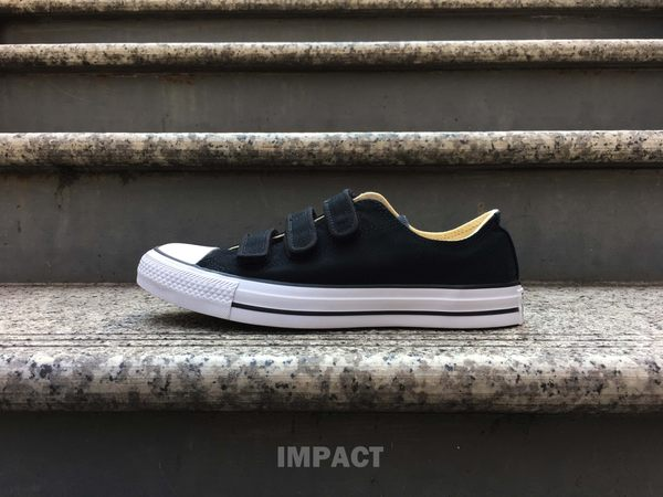 IMPACT Converse Chuck Taylor All Star V3 UNISEX 黑白 膠底帆布鞋 魔鬼氈 低筒 休閒 經典百搭 105043