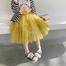 童裝新款2021洋氣女童春夏裙子短裙蛋糕裙兒童半身裙寶寶公主紗裙 快速出貨