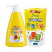 ☆愛兒麗☆Nuby 奶蔬清潔露組合包(1罐1300ml+1補充包600ml)