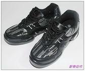 節奏皮件~排舞鞋‧有氧舞鞋‧健康舞鞋編號Q5588 黑銀皮