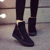 雪靴 2019冬季新款加絨保暖雪地靴女學生短筒棉靴韓版馬丁短靴百搭棉鞋