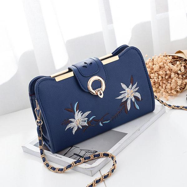 側背包包 時尚鮮花手包手提包/斜背包 共四色 -0109 鮮花手包【寶來小舖Bolai】現貨販售