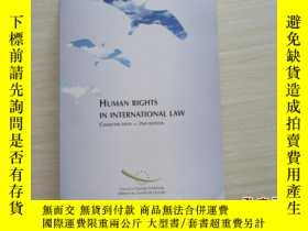 二手書博民逛書店HUMAN罕見RIGHTS IN INTERNATIONAL L