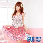 【SUMMERLOVE 夏之戀】優雅玫瑰時尚三件式泳衣-E13738