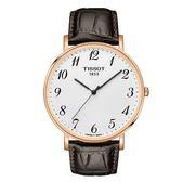 ◆TISSOT◆ EVERYTIME LARGE簡約大三針石英腕錶 T109.610.36.032.00