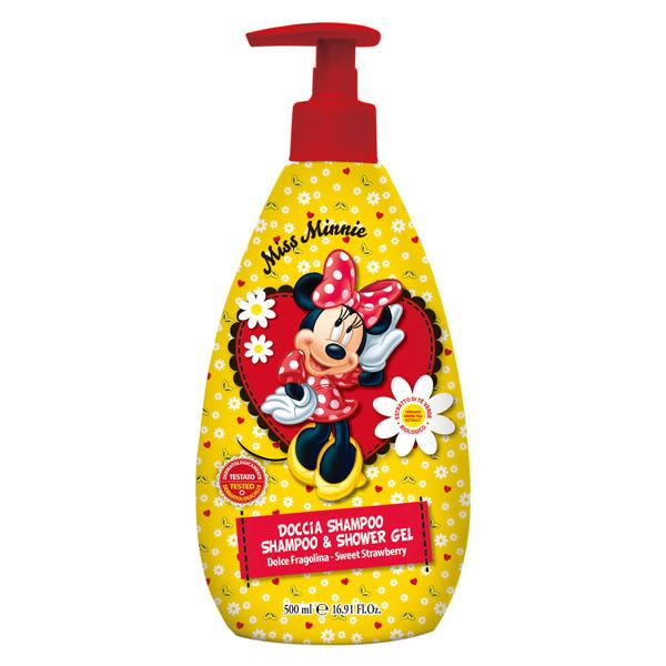【義大利原裝進口】Disney Minnie洗髮沐浴乳(甜草莓)500ml,效期2021/07原價$350↘特價$199