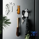 鑰匙掛鉤免打孔創意動物粘鉤可愛卡通強力無痕門后掛架【古怪舍】