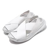 Nike 涼拖鞋 Wmns Praktisk 白 灰 女鞋 繃帶 涼鞋 夏日穿搭 【PUMP306】 AO2722-100