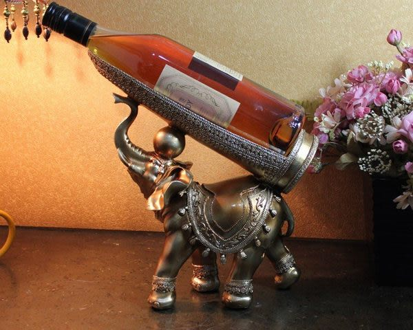 大象樹脂紅酒架