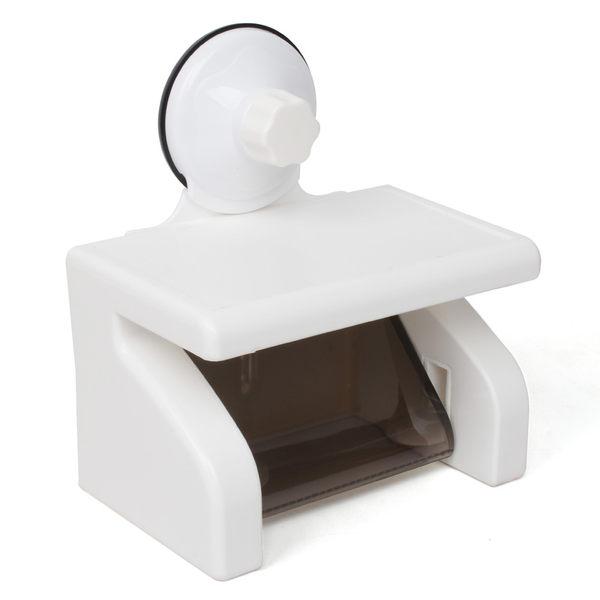 可易防水吸盤紙巾架衛生間面巾盒廁所捲紙架捲紙盒手紙盒衛生紙架【慶新年全館免運】
