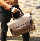 FINDSENSE Z1 韓國 時尚 潮 男 皮質 複古 多功能 皮包 手提包