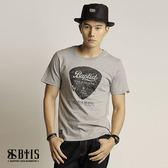 【BTIS】吉他Pick 圓領T-shirt / 麻灰色