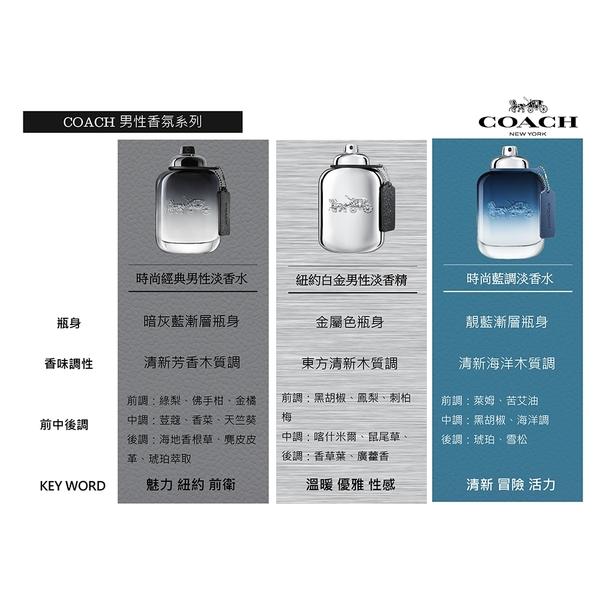 Coach BLUE時尚藍調男性淡香水100ml【UR8D】