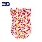 chicco-TO BE-繽紛花朵荷葉袖連身衣