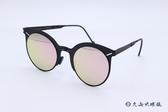 ROAV 偏光太陽眼鏡 Zuma - Mod.8005 ( 霧黑框/粉水銀 ) 薄鋼折疊墨鏡