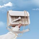 鍊條包 高級感包包新款2021流行鍊條斜挎包女百搭ins洋氣女包時尚小方包 歐歐