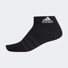 ADIDAS LIGHT ANK 1PP 短襪 單雙入 薄款 襪子 運動襪 DZ9406 黑【iSport愛運動】