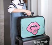 旅行袋短途出門旅行包女輕便可愛韓版拉桿旅游出差男小手提包行李收納袋  海角七號