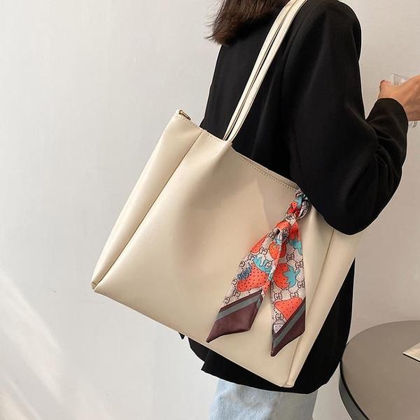托特包 通勤大容量托特包包2021新款時尚網紅側背斜背包女包大學生上課包 嬡孕哺