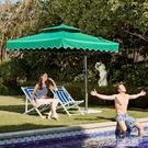 戶外遮陽傘 戶外遮陽傘戶外傘大型沙灘太陽傘擺攤傘方折疊雨傘庭院傘室外防曬YXS 【快速出貨】