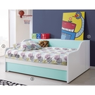 【森可家居】天天晴朗3.5尺子母床組 10JX357-1+2+358-3 床架+床邊側櫃+子床 兒童 北歐風 MIT台灣製造
