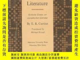 二手書博民逛書店Essays罕見On European LiteratureY255562 Ernst Robert Curt