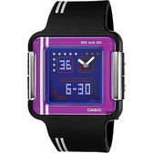 CASIO 卡西歐 復刻電玩手錶-紫x黑 LCF-21-1
