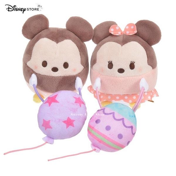 日本限定 DISNEY STORE 迪士尼商店 米奇 & 米妮 ufufy系列  玩偶 窗簾束帶 對偶組