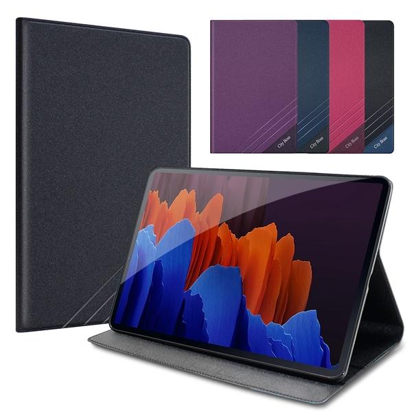 CITYBOSS for 三星 Samsung Galaxy Tab S7+ S7 Plus 12.4吋 T970 T975 運動雙搭隱扣皮套