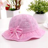 春夏女寶寶盆帽公主帽0-1歲女童遮陽涼帽嬰兒帽子3-6-12個月正韓【萬聖節鉅惠】