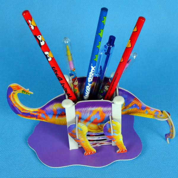 佳廷模型 親子DIY紙模型3D立體拼圖贈品獎勵品專賣店 昆蟲館動物園 恐龍筆筒5 雷龍 Calebou卡樂保