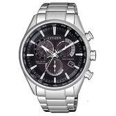 CITIZEN星辰Eco-Drive  廣告款紳士簡約電波光動能萬年曆腕錶  CB5020-87E 黑面