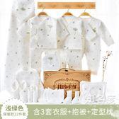 禮盒套裝 嬰兒衣服0-3個月套裝春秋夏季新生兒禮盒初生寶寶用品木盒裝T 4色
