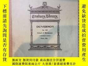 二手書博民逛書店罕見DUVERNOYY104568 DUVERNOY Century Music Publishing Com