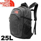 【The North Face 美國 25L 13吋電腦背包《黑/珊瑚粉》】CA7K/電腦背包/電腦包/後背包★滿額送