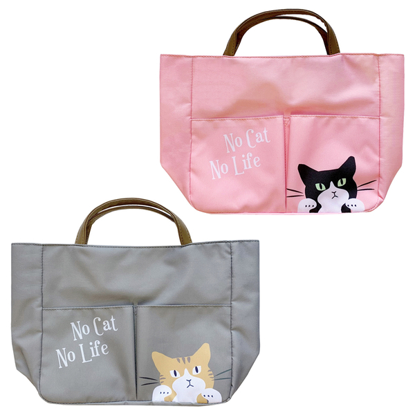 【日本正版】貓咪 輕便手提袋 便當袋 午餐袋 手提袋 大西賢製販 481252 481269