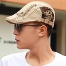 貝雷帽 新款帽子韓版前進帽貝雷帽男女士鴨舌帽戶外遮陽帽防曬畫家帽子潮