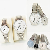 流行對錶超薄潮流時尚男士女士鋼帶學生防水非機械石英錶流行男錶流行女錶 降價兩天