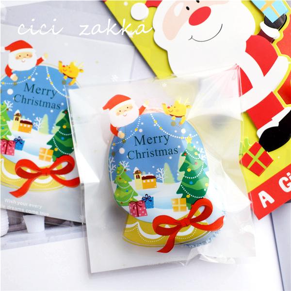 95入 聖誕水晶球 耶誕派對袋 自黏袋【X018】OPP袋 透明包裝袋 餅乾袋 西點 飾品 糖果甜點袋 封口袋