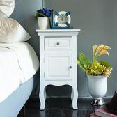 床頭柜 實木 象牙白歐式桌子 小柜子簡單 手工制作收納柜PU烤漆 HH1360【極致男人】