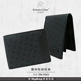 ROBERTA 諾貝達 皮夾 幾何時尚系列 8卡 窗格 短夾 男夾 RM-28903 得意時袋