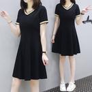 a字裙 洋裝 連身裙L-4XL中長款裙子...