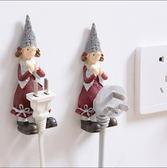 卡通樹脂插座電源線掛鉤收納掛架 可愛強力粘鈎插頭粘膠支架動物款 ─ CH5451